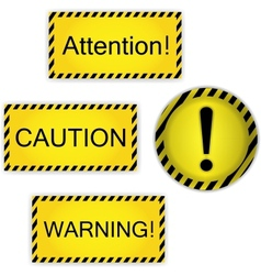 Warning attention caution vector
