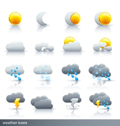 Weather icon set - meteorology vector
