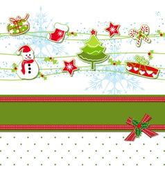 Christmas ornament greeting card vector