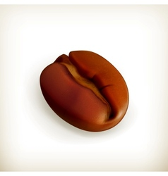 Roasted coffee bean vector