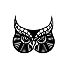 Fierce looking horned owl vector