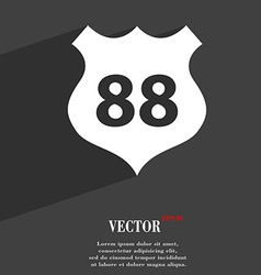 Route 88 highway icon symbol flat modern web vector