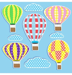 Hot air balloons vector