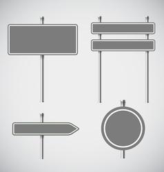 Blank grey metal arrow boards collecion vector
