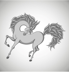 Stylized horse vector