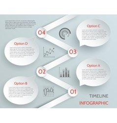 Timeline business infographic vector