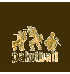 Paintball players vector