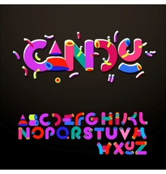 Stylized candy-like alphabets vector