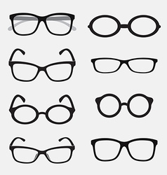 Group of an glasses vector