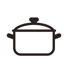 Cooking pot symbol vector