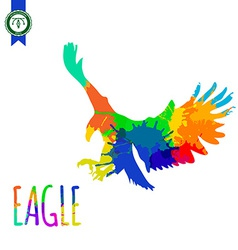 Abstract colorful eagle silhouette vector