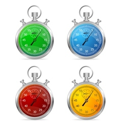 Stopwatch set vector