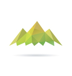 Green mountain abstract isolated vector