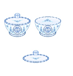 Sugar-bowl vector