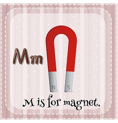 A letter m for magnet vector