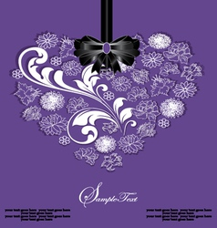 Beautiful floral heart vector