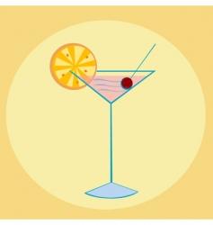 Cocktail illustration vector
