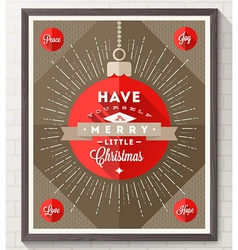 Poster with christmas type design vector