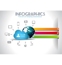 Cloud computing infographic concept background vector