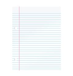 Notepad paper vector