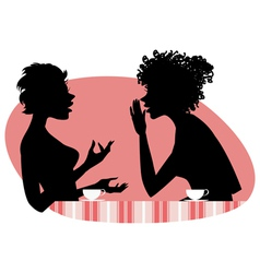 Women talking vector