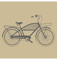 Old classic bicycle vintage vector