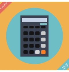 Calculator icon -  flat design vector