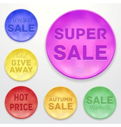 Promotional stickers colorful collection vector