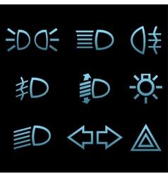 Car interface symbols vector