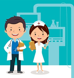 Doctor and nurse vector