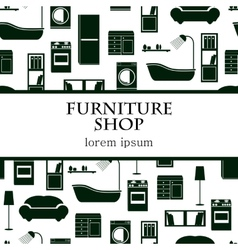 Home interior furniture background vector