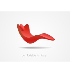 Comfortable flying chair vector
