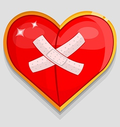 Big red wounded heart vector