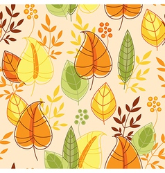 Autumn pattern seamless vector