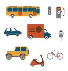 Flat city transport clip art vector