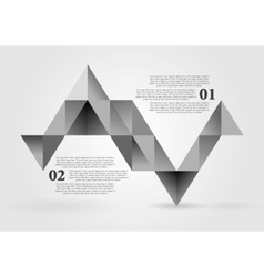 Abstract grey triangles infographics design vector