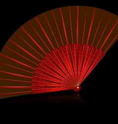 Red fan vector