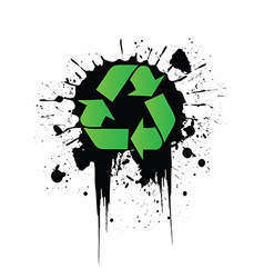 Grunge recycling vector