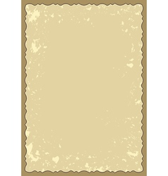 Old frame with grunge background vector