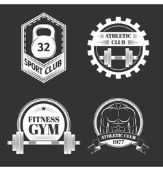 Set of logo for sport athletic club vector
