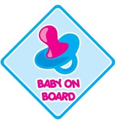 Baby on board 1 vector