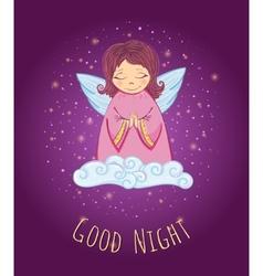 Good night angel vector