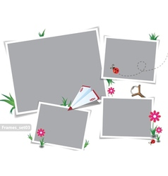 Childhood summer photo frames vector