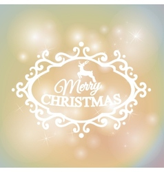 Merry christmas and happy new year on colorful vector