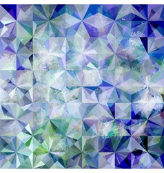 Colorful abstract geometric blue grunge pattern vector