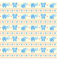 Elephant blue fun pattern vector