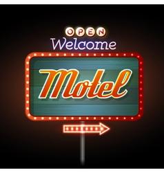 Neon sign motel vector