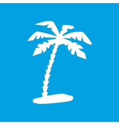 Island white icon vector