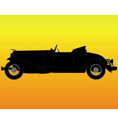 Old convertible car vector