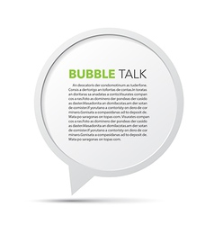 3d bubble talk frame design element eps10 vector
